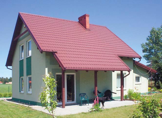 Wykończenie elewacji domu z kształtek styropianowych