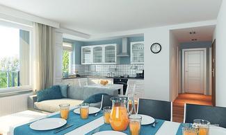 Projektowanie kuchni - inwestycja Olimpia Port